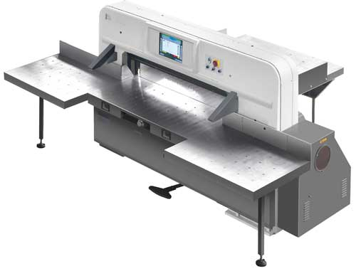 Programmed paper cutting machine with 15 inch touch screen computer